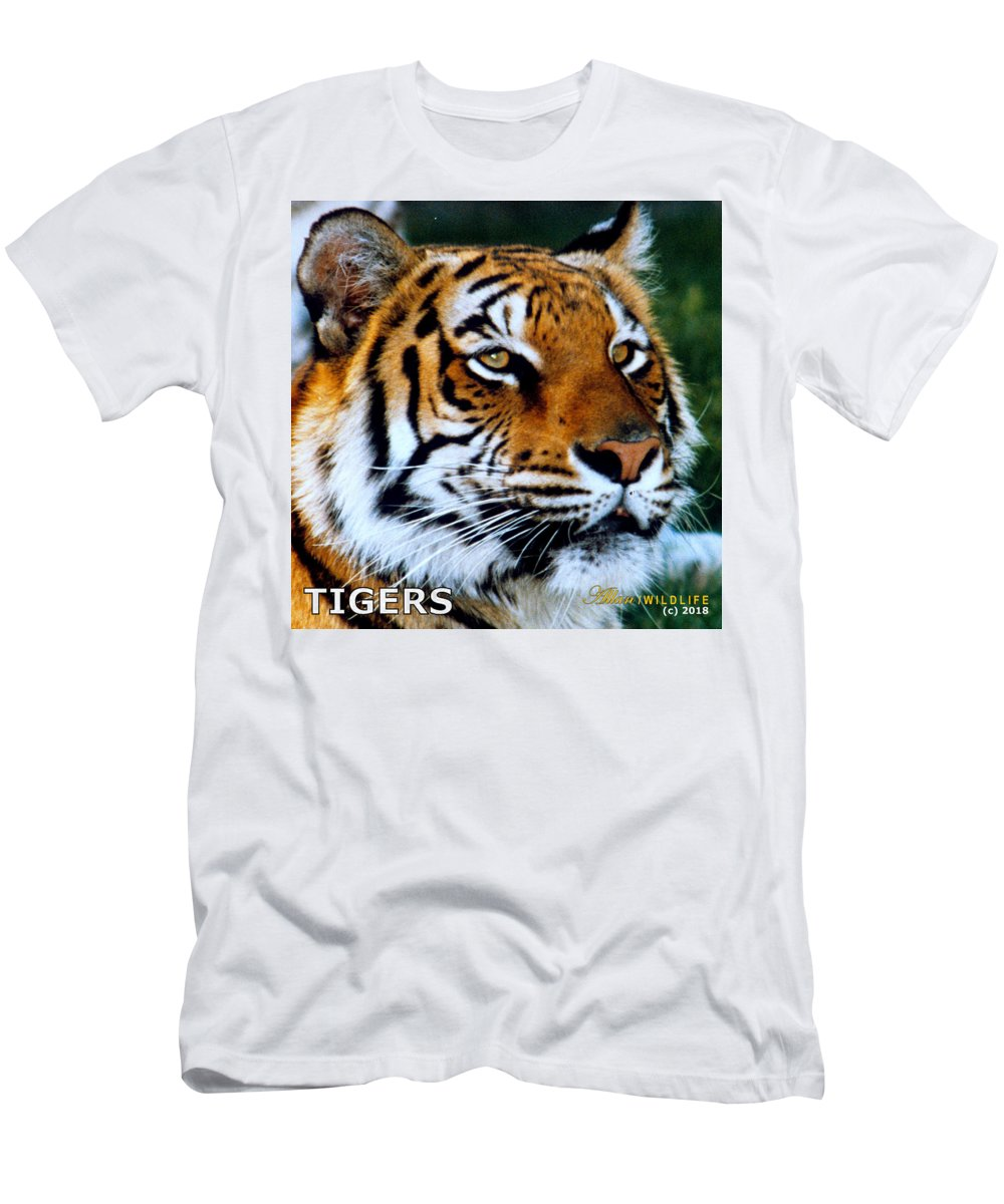 Tigers Men's T-Shirt (Athletic Fit) featuring the photograph Tigers Mascot 2 by Larry Allan