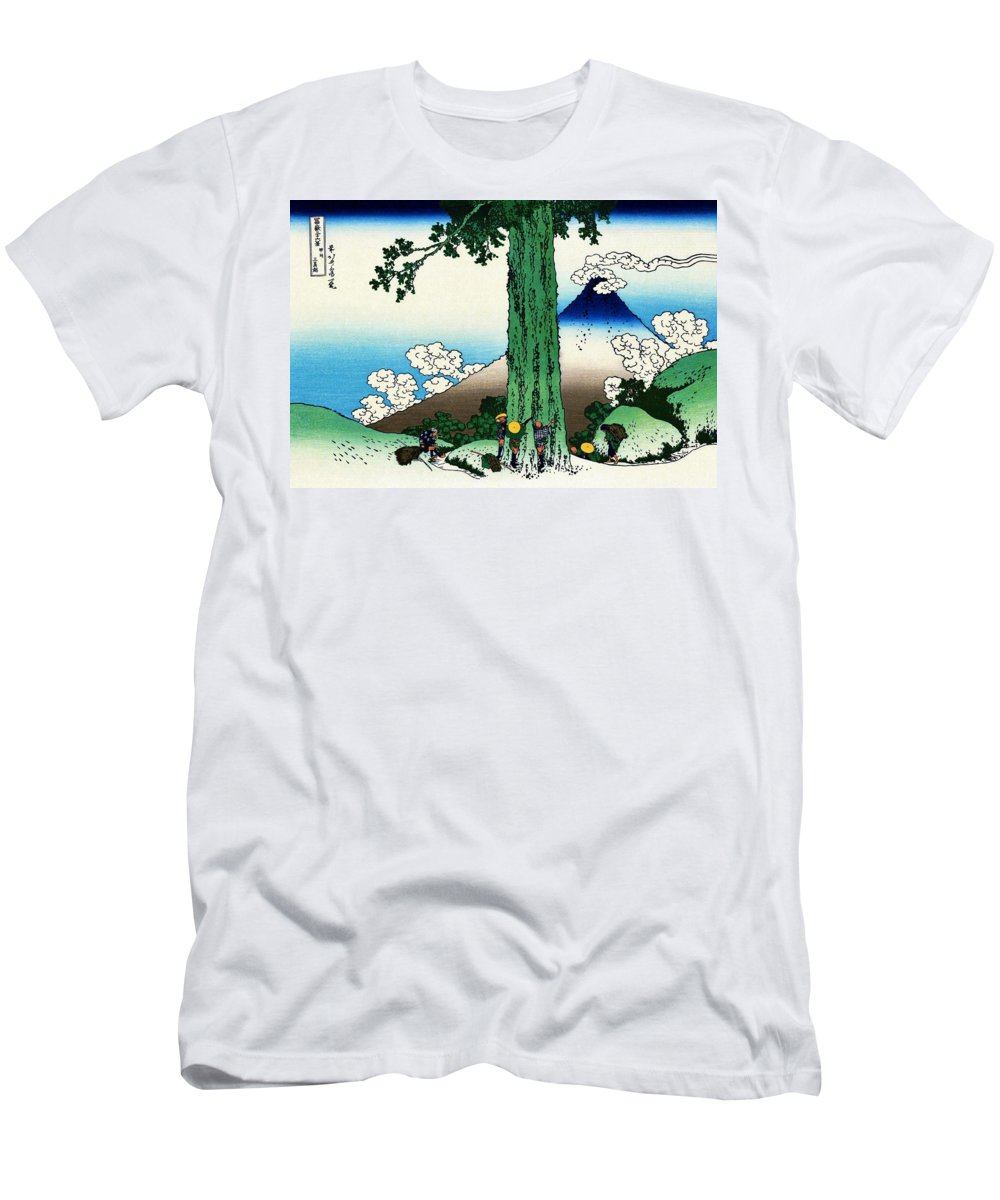 Mount Fuji Men's T-Shirt (Athletic Fit) featuring the painting Top Quality Art - Mt,fuji36view-koshu Mishimagoe by Katsushika Hokusai