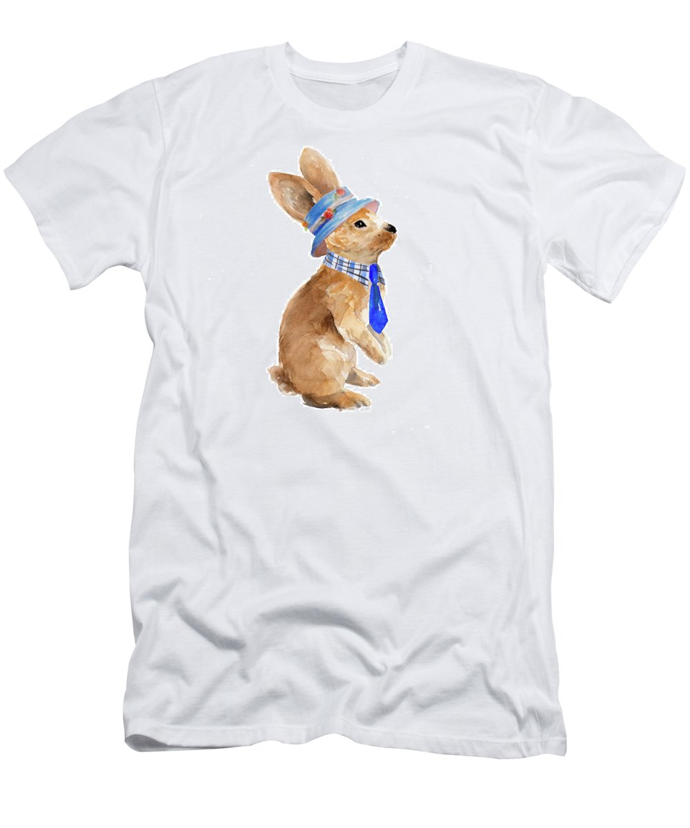 Trendy T-Shirt featuring the painting Trendy Meadow Buddy I (tie) by Lanie Loreth
