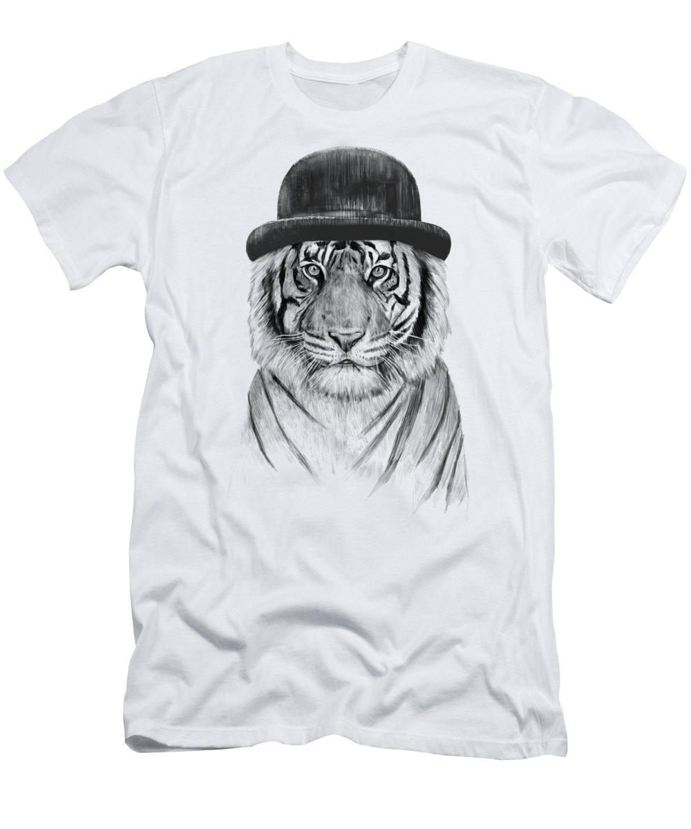 Tiger T-Shirt featuring the drawing Welcome to the jungle by Balazs Solti