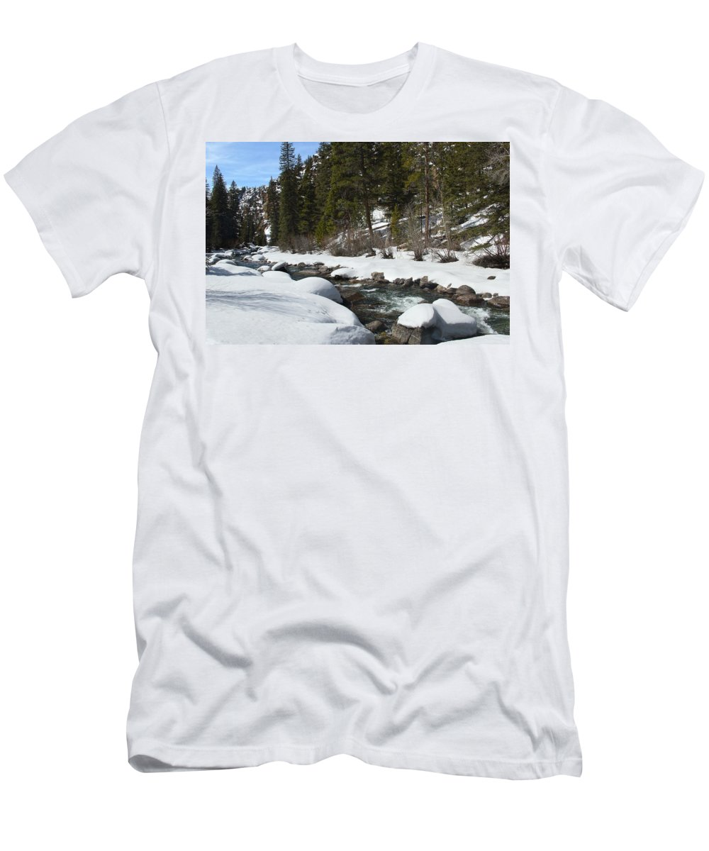 Creek T-Shirt featuring the photograph Winter Creek by Marie Leslie