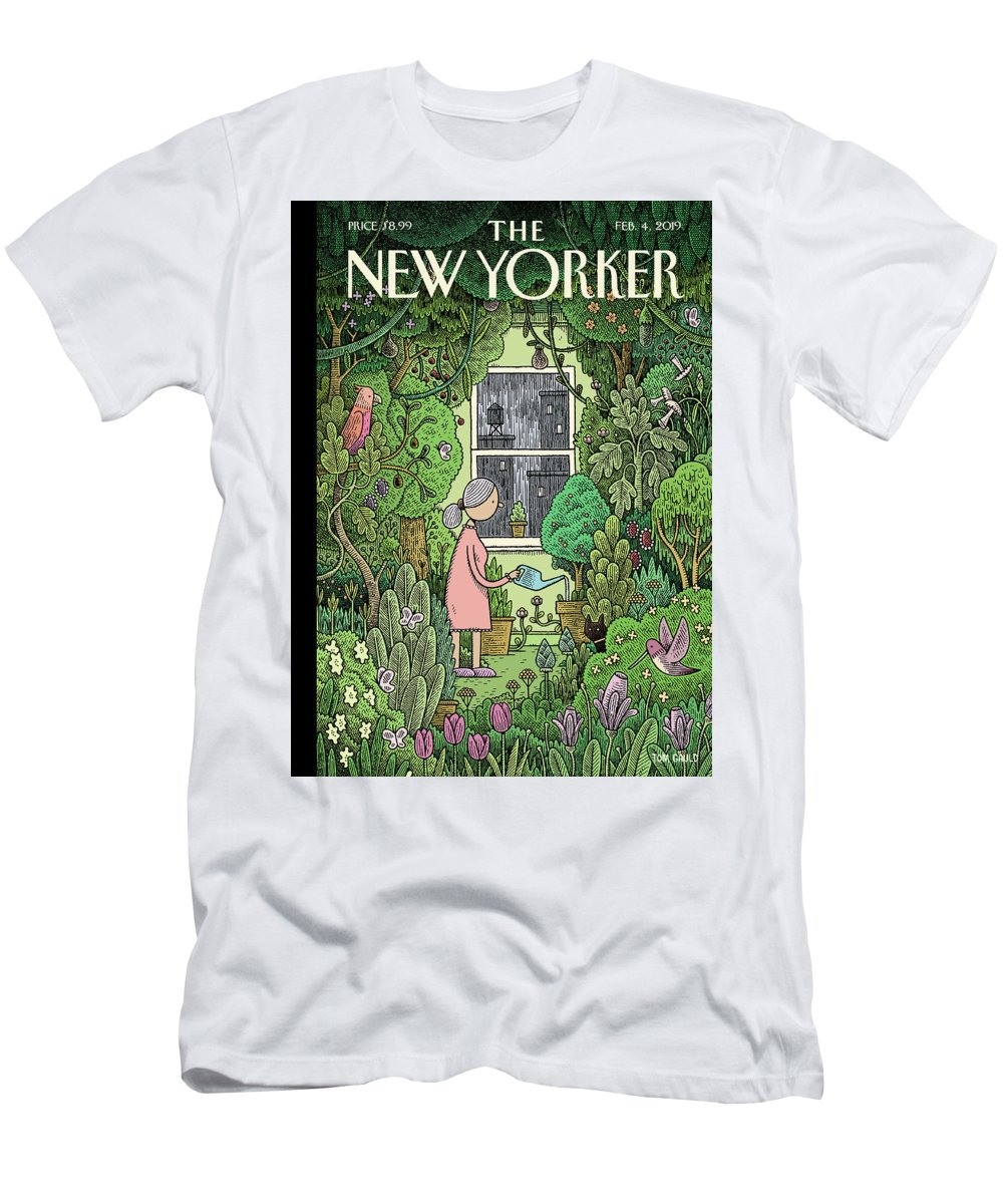 Winter Garden T-Shirt featuring the painting Winter Garden by Tom Gauld