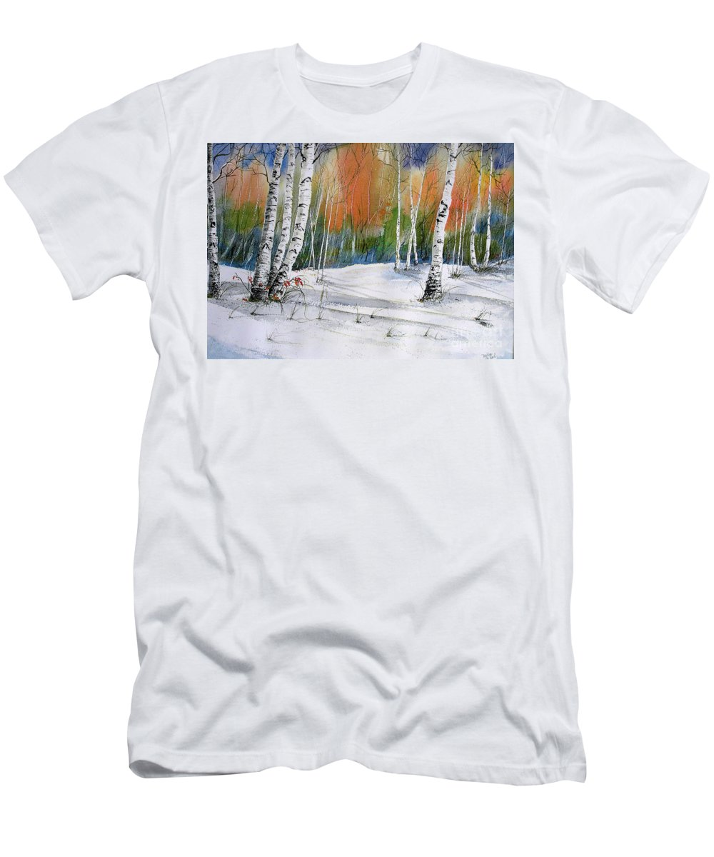 Snow T-Shirt featuring the painting Winter Wonderland by Midge Pippel