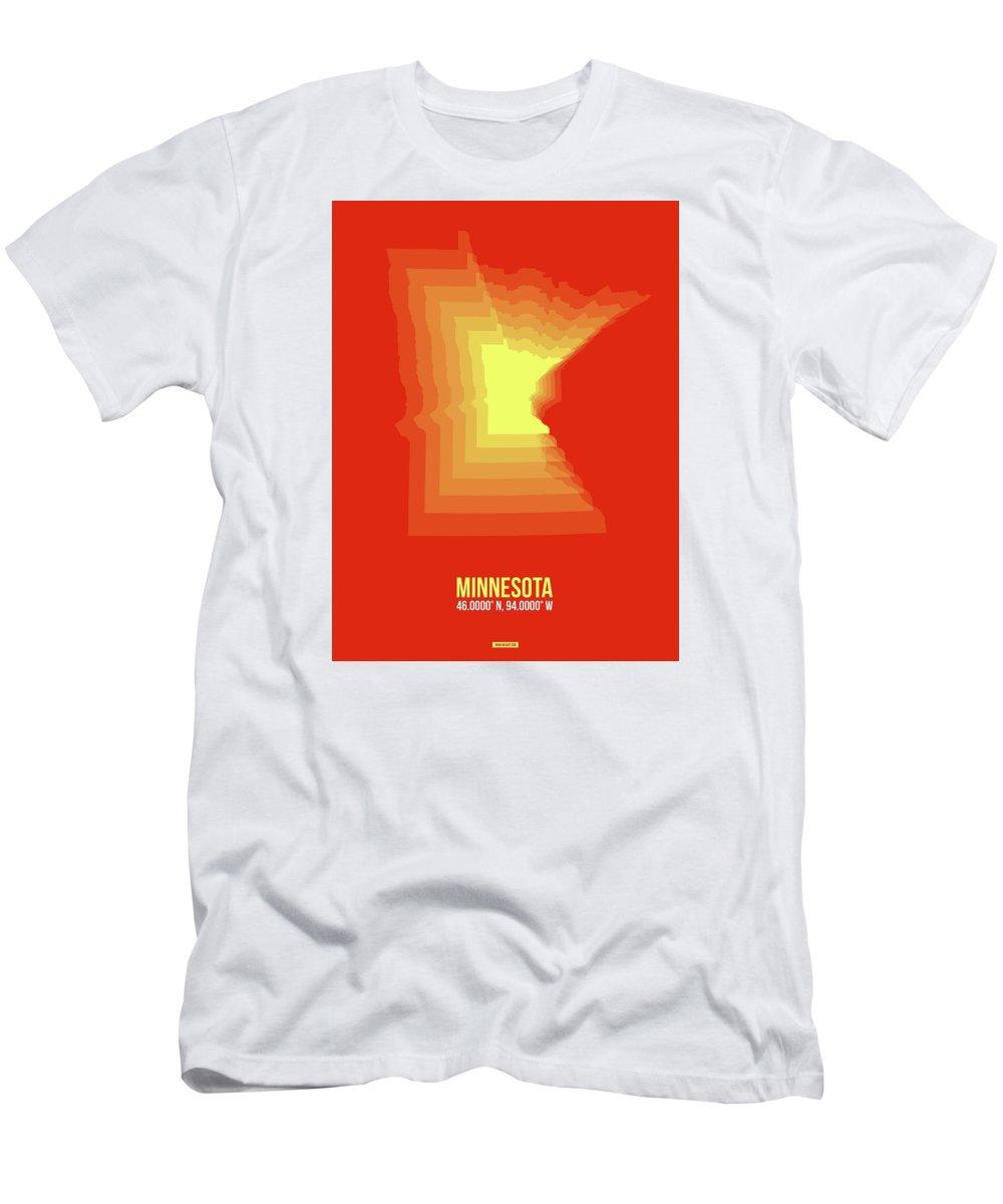 Minnesota Men's T-Shirt (Athletic Fit) featuring the digital art Yllow Map Of Minnesota by Naxart Studio