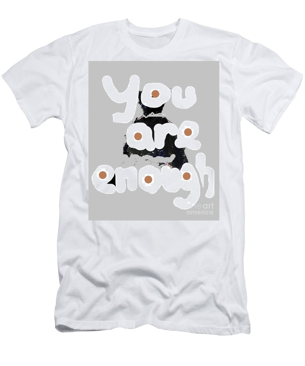 Inspirational Men's T-Shirt (Athletic Fit) featuring the mixed media You Are Enough by Vesna Antic
