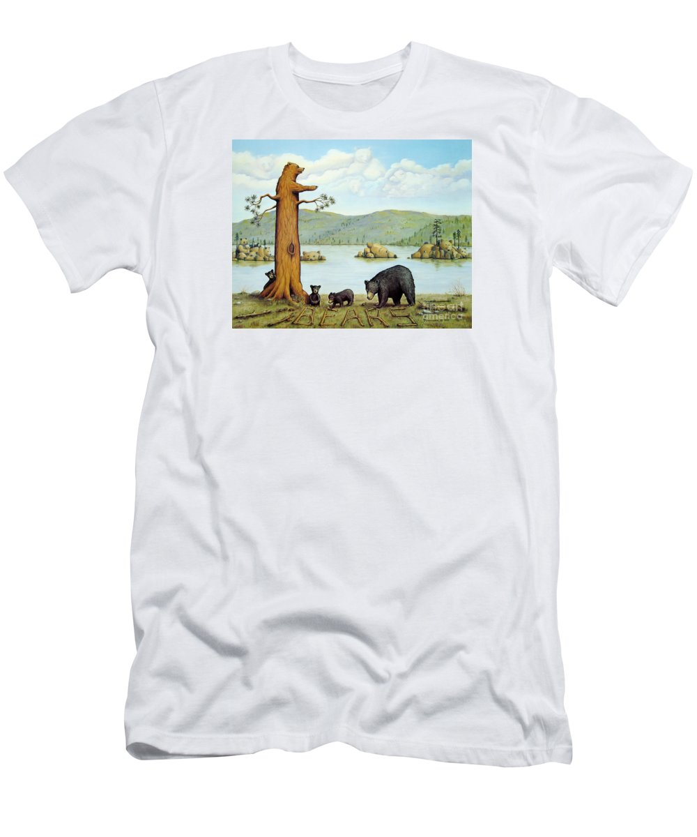 Bears T-Shirt featuring the painting 27 Bears by Jerome Stumphauzer