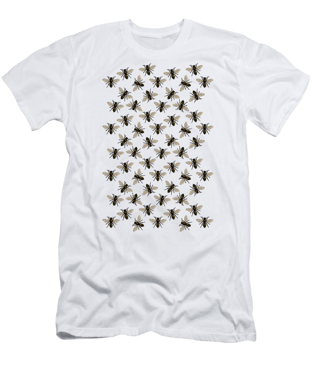 Honey Bee Pattern T-Shirt featuring the digital art Honey Bee Pattern by Eclectic at HeART