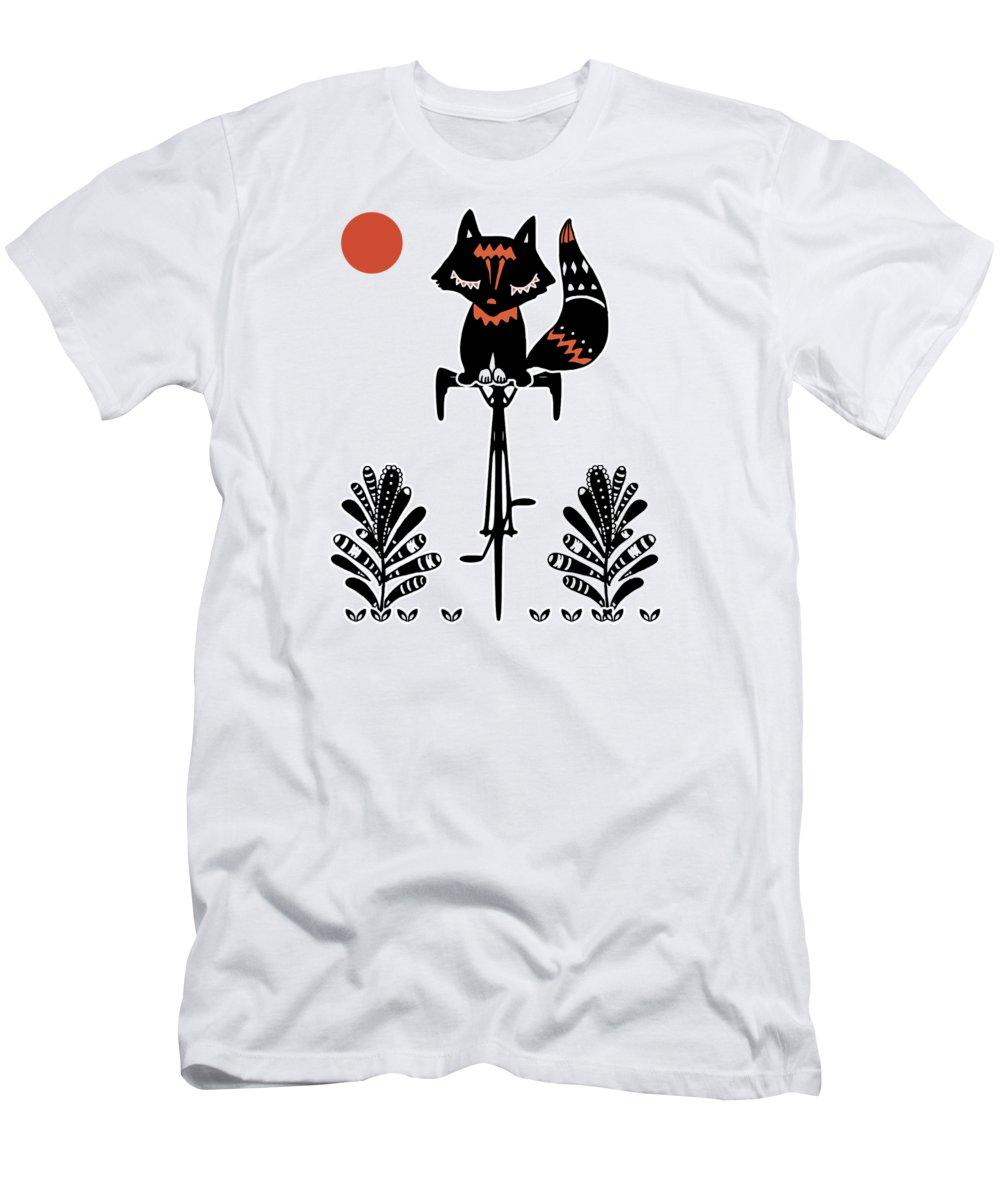 T-Shirt featuring the digital art Fox by Danilov Ilya