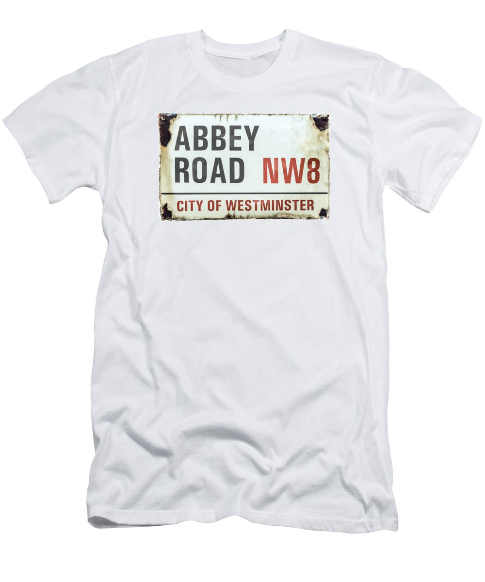 1969 T-Shirt featuring the photograph Abbey Road Sign by Mr Doomits