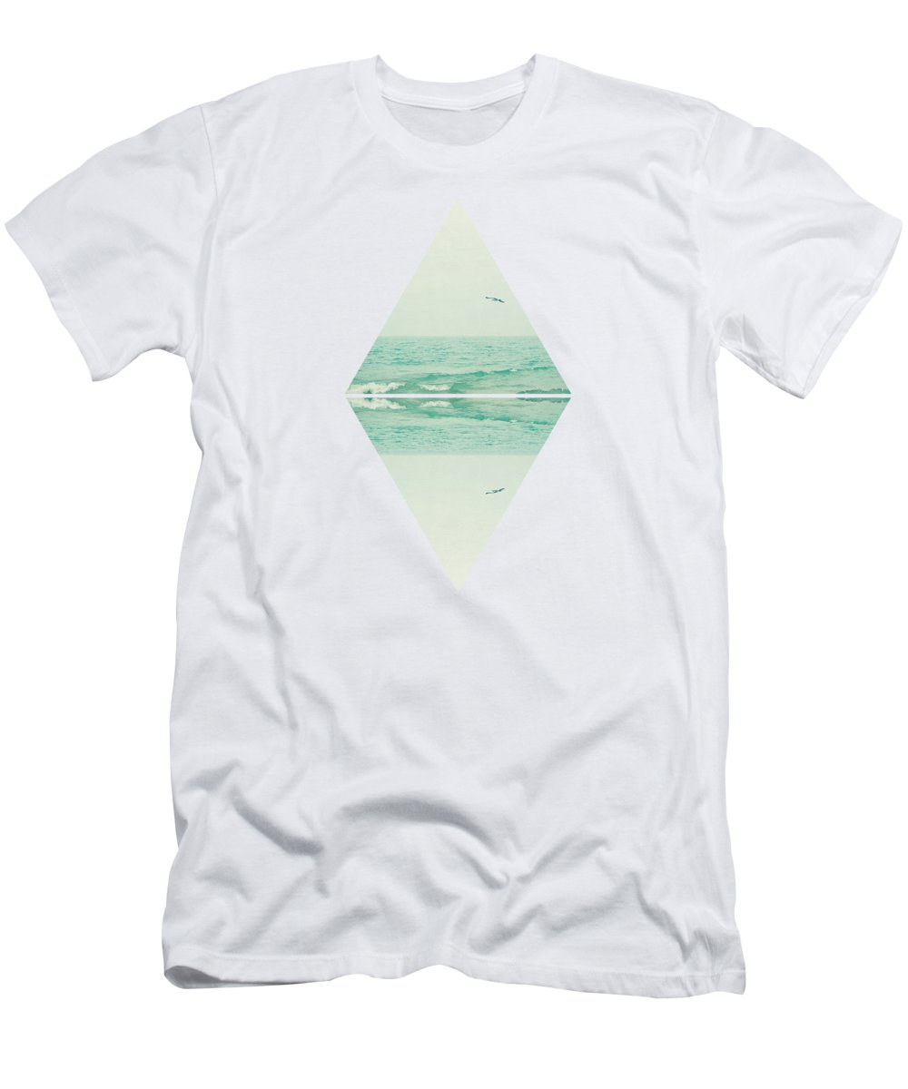 Abstract T-Shirt featuring the digital art Parallel Waves by Cassia Beck