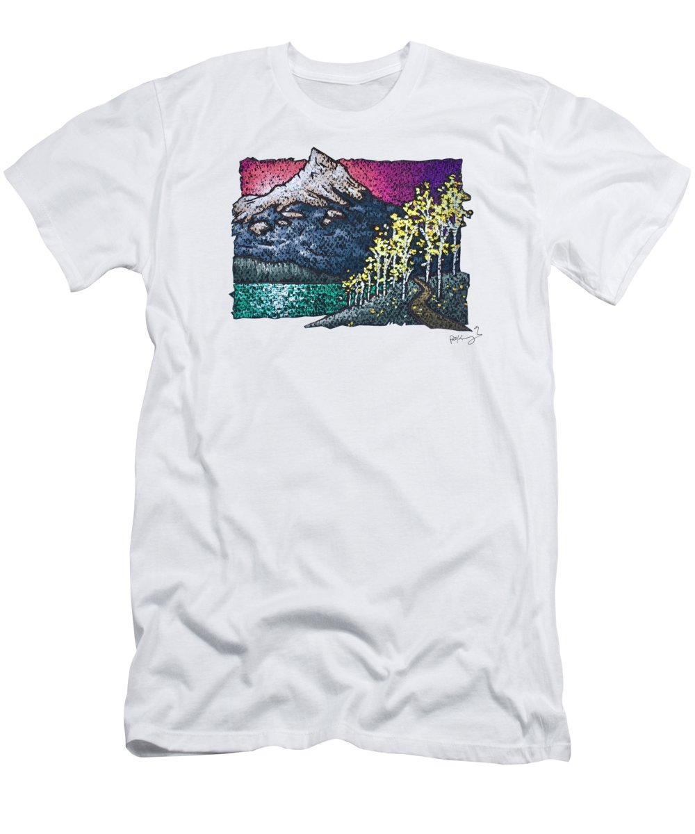 Aspen T-Shirt featuring the pastel Aspen Sunrise by Patrick Kochanasz