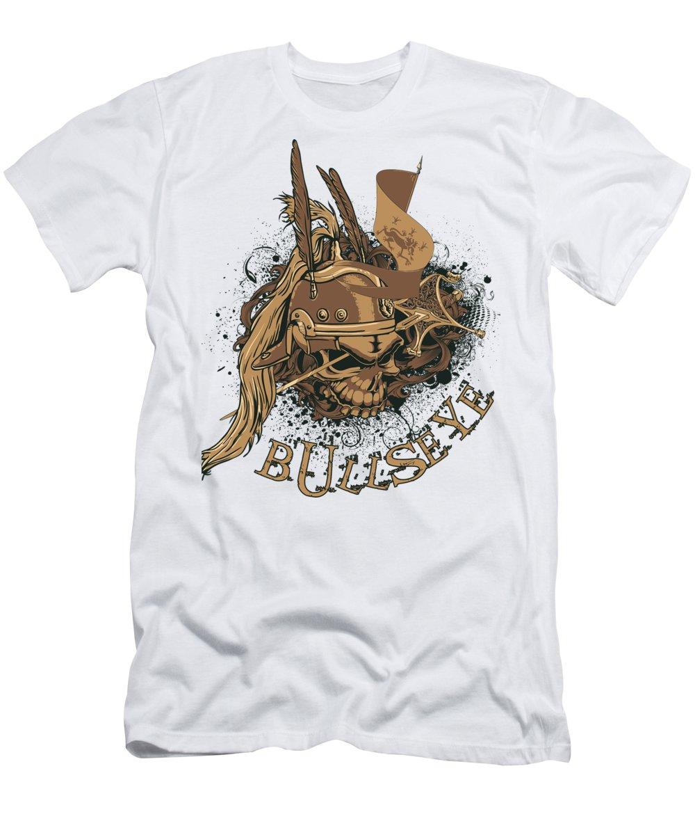 Halloween T-Shirt featuring the digital art Bullseye by Passion Loft