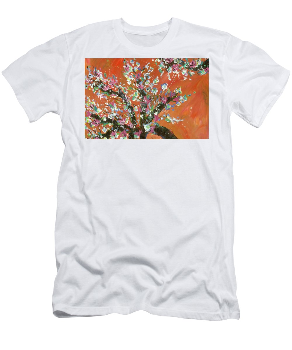 T-Shirt featuring the painting Cherry Tree by Britt Miller