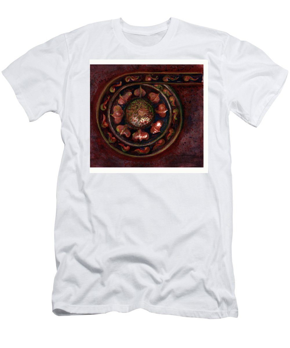Art T-Shirt featuring the painting Citizens Block Architectural Detail by Elle Smith Fagan