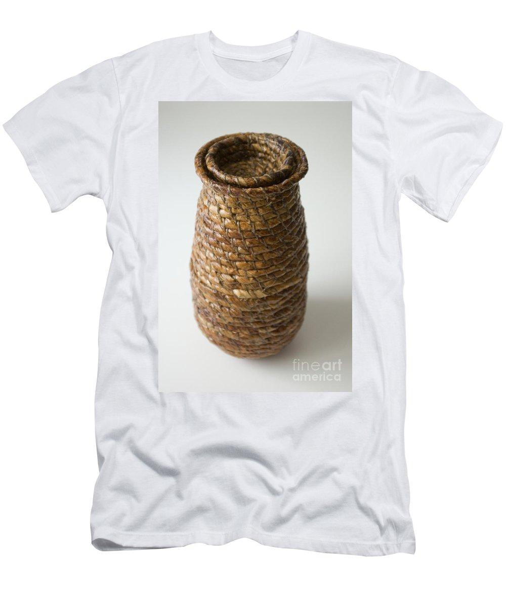 Banana-fibre T-Shirt featuring the mixed media Cocoon Pod by Kerryn Madsen-Pietsch