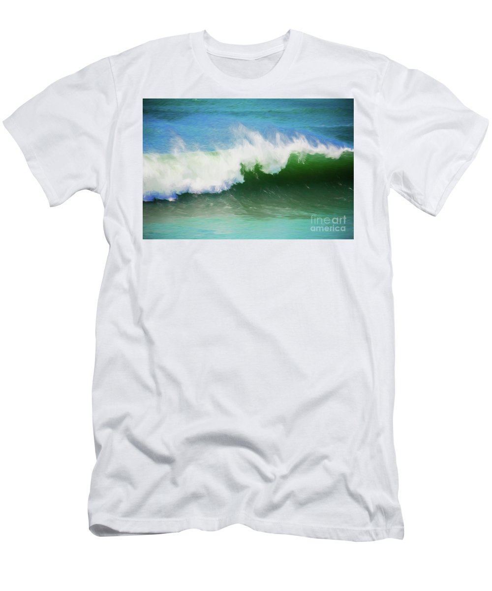 Surf T-Shirt featuring the photograph Crashing surf by Sheila Smart Fine Art Photography