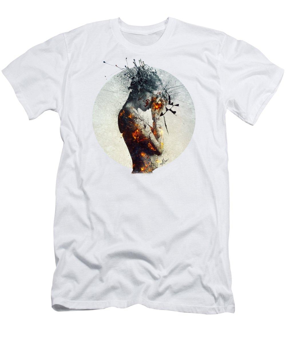 Deliberation T-Shirt featuring the digital art Deliberation by Mario Sanchez Nevado