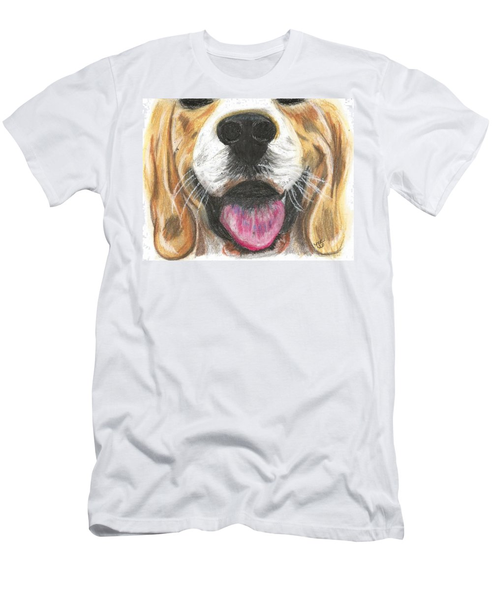 Dog Face T-Shirt featuring the painting Dog Face by Monica Resinger