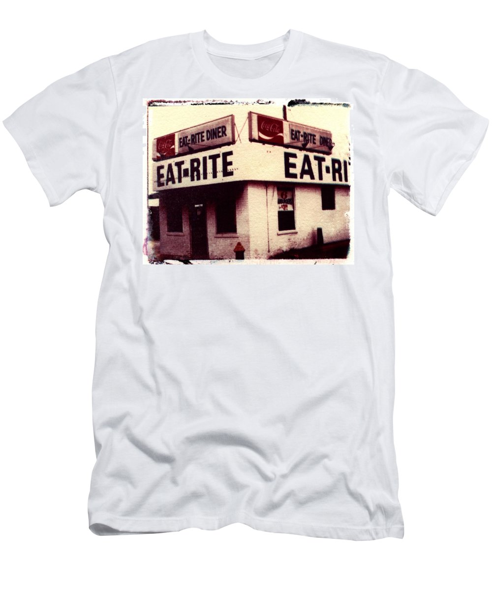 Polaroid Transfer T-Shirt featuring the photograph Eat Rite by Jane Linders