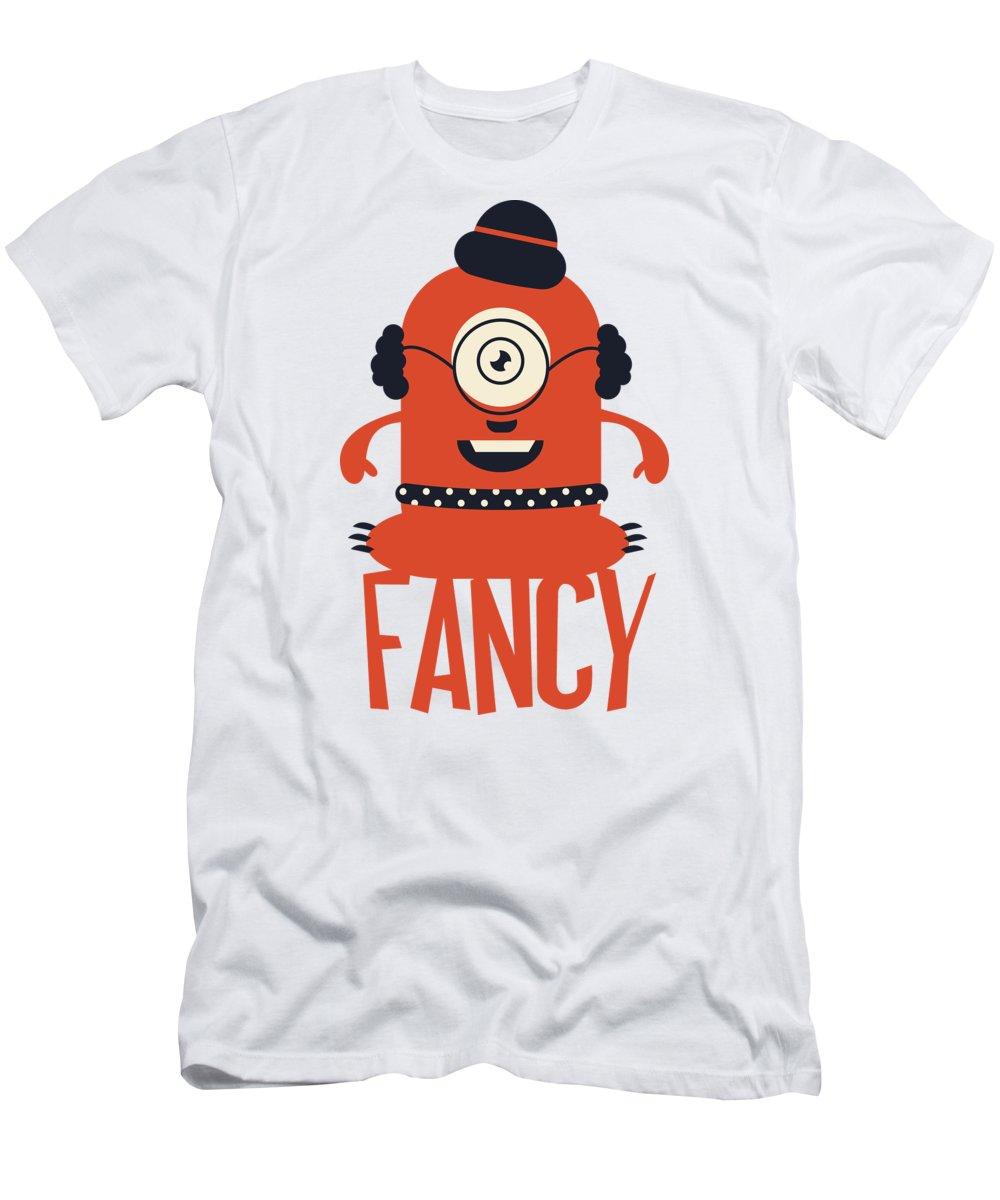 Cartoon T-Shirt featuring the digital art Fancy Monster by Jacob Zelazny
