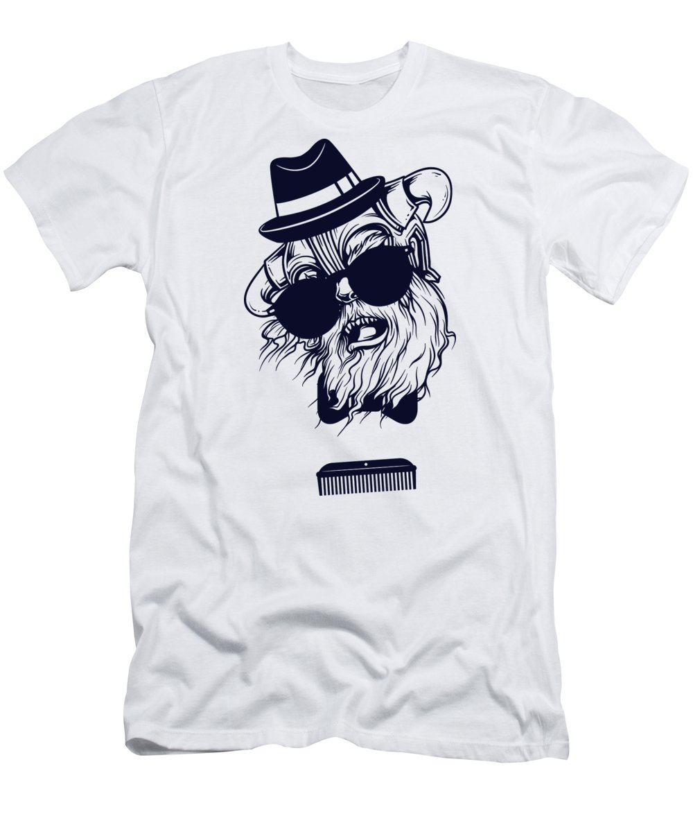 Monster T-Shirt featuring the digital art Hipster Viking by Jacob Zelazny