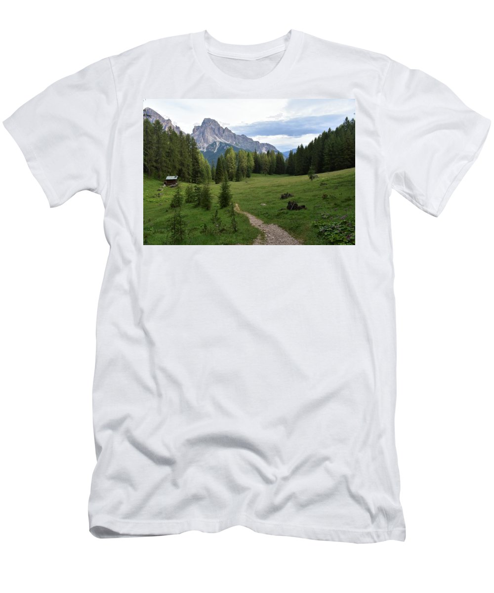 Dolomites T-Shirt featuring the photograph Meadow in the dolomites by Luca Lautenschlaeger