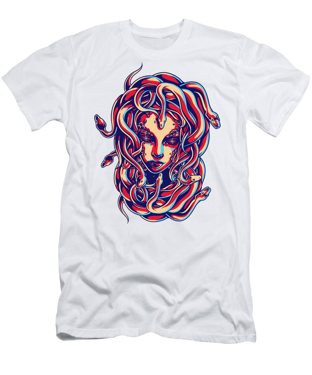 Greek Mythology T-Shirt featuring the digital art Medusa by Jacob Zelazny