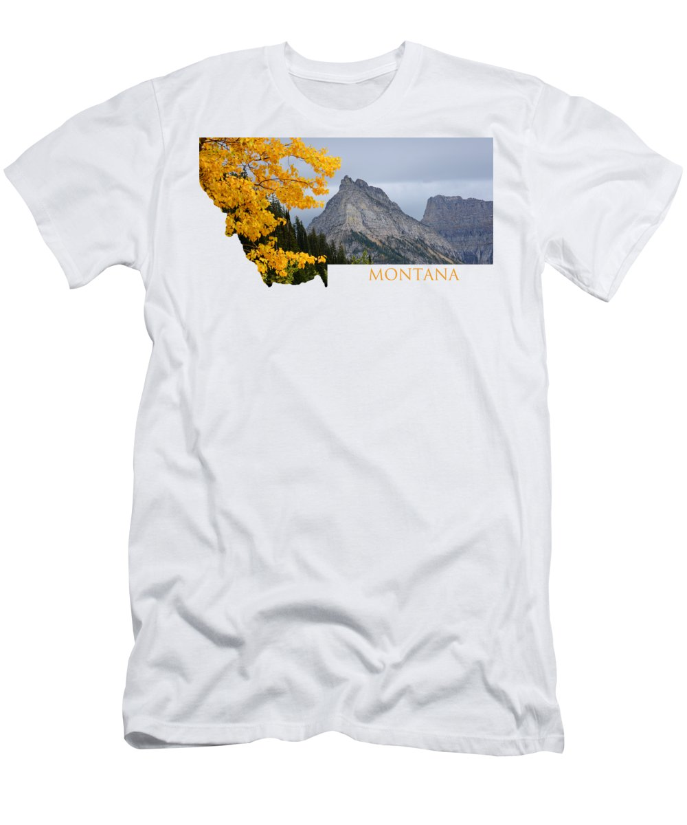 Montana T-Shirt featuring the photograph Montana Mountains by Whispering Peaks Photography
