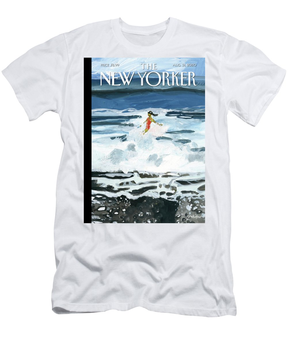 Summer T-Shirt featuring the painting Out Of The Blue by Gayle Kabaker