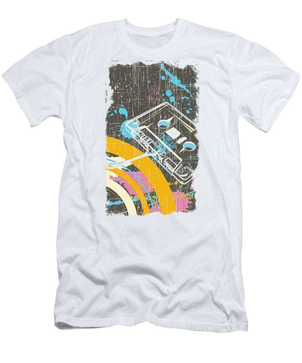 Dj T-Shirt featuring the digital art Retro Vintage Classic Cassette by Passion Loft