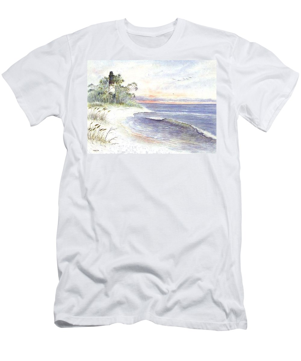 Lighthouse T-Shirt featuring the painting Solitude by Ben Kiger