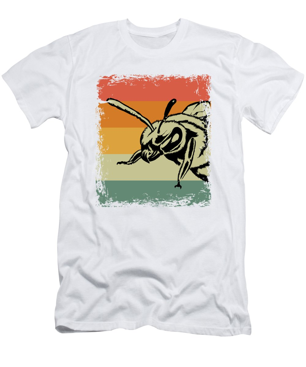 Bee T-Shirt featuring the digital art Vintage Bee Wasp Gift Idea by J M