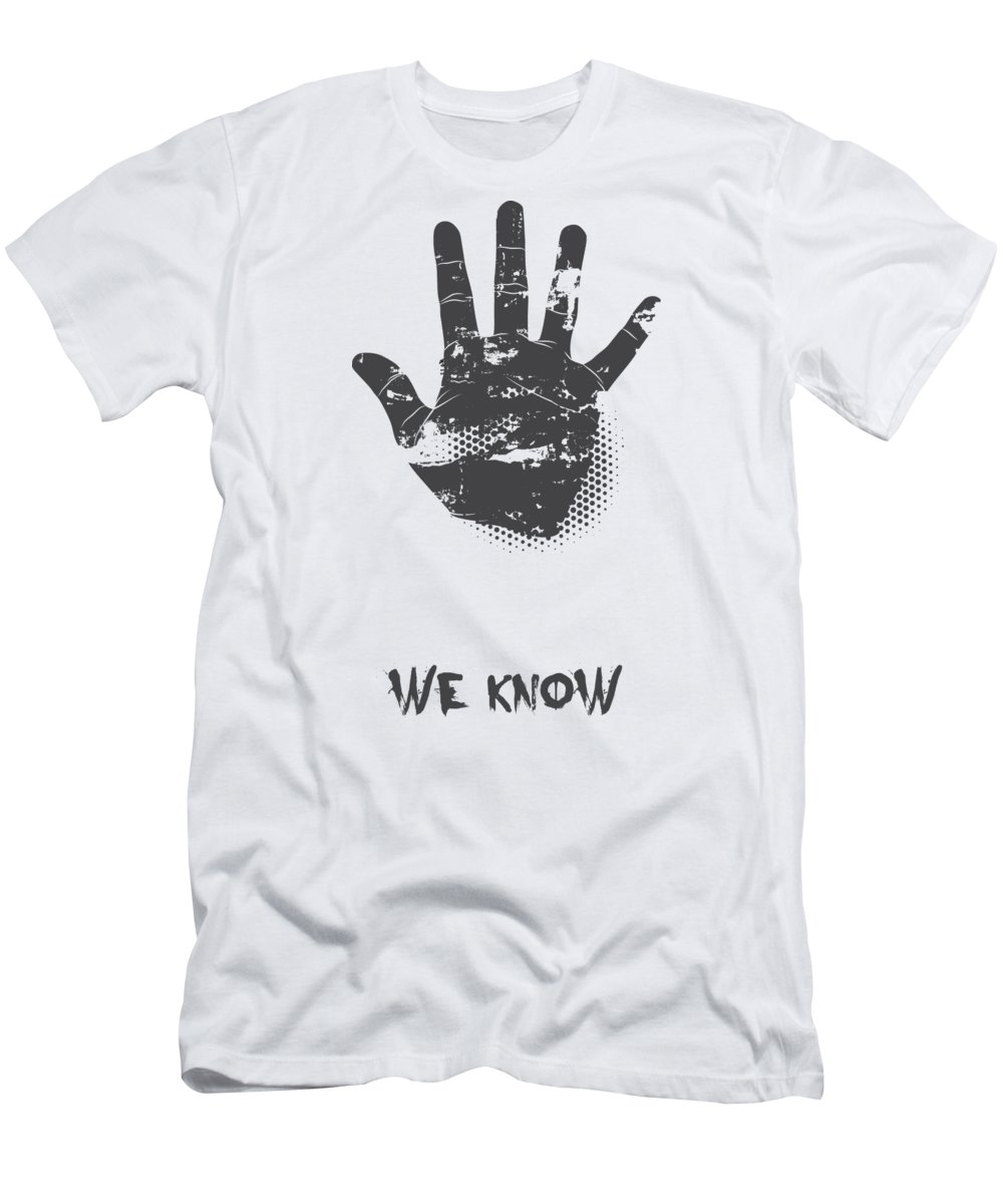 Halloween T-Shirt featuring the digital art We Know Grungy Palm by Jacob Zelazny
