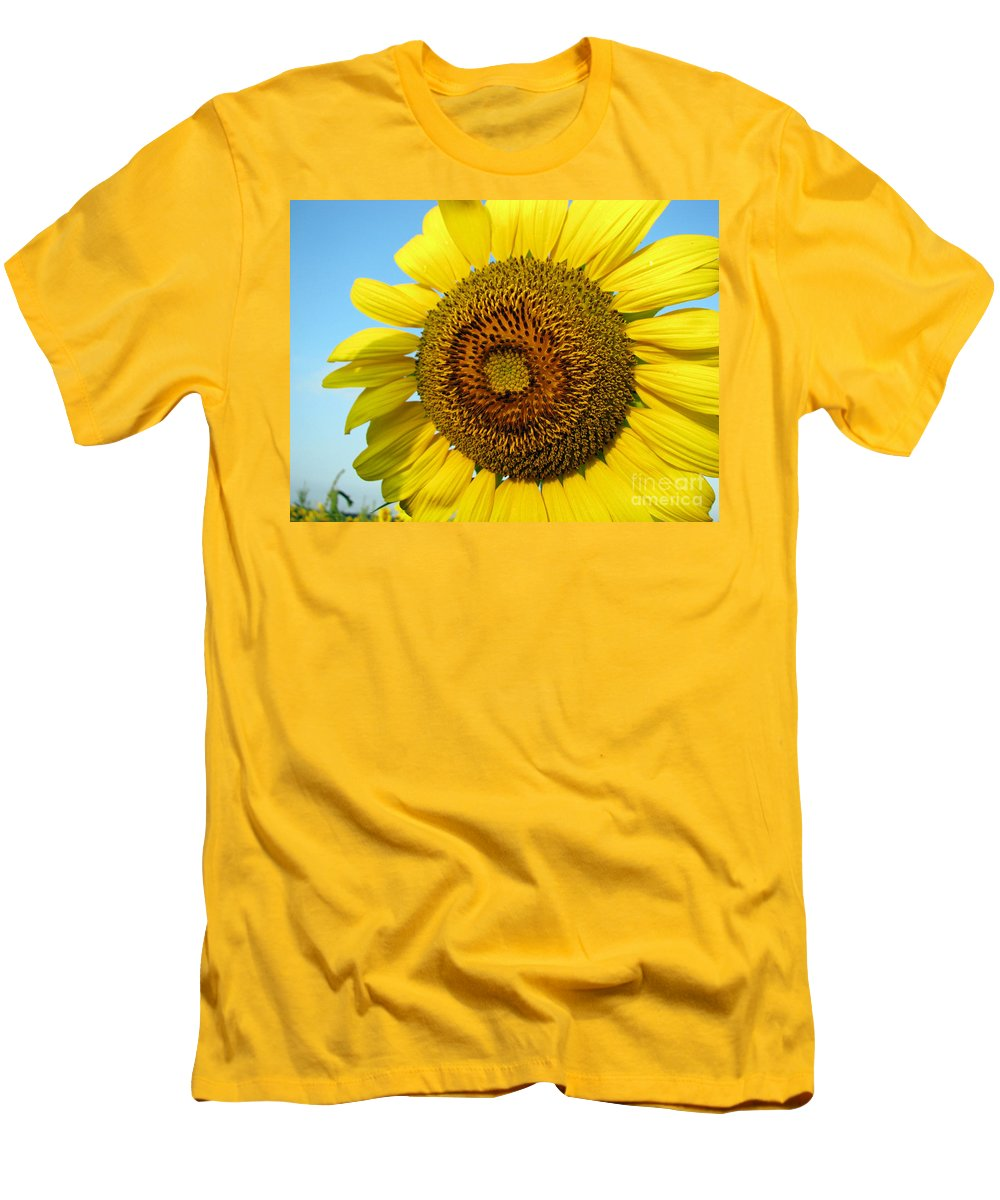Sunflower Men's T-Shirt (Athletic Fit) featuring the photograph Sunflower Series by Amanda Barcon