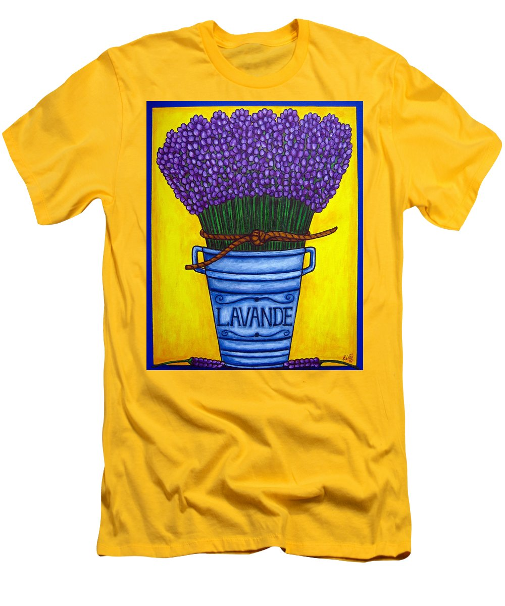 Antique Men's T-Shirt (Athletic Fit) featuring the painting Colours Of Provence by Lisa Lorenz