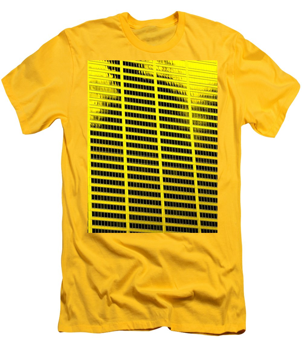 Office Men's T-Shirt (Athletic Fit) featuring the photograph Commerce by Ian MacDonald