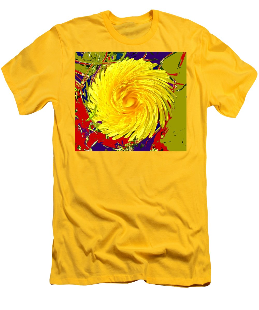 Flower Men's T-Shirt (Athletic Fit) featuring the photograph Dandy Three by Ian MacDonald