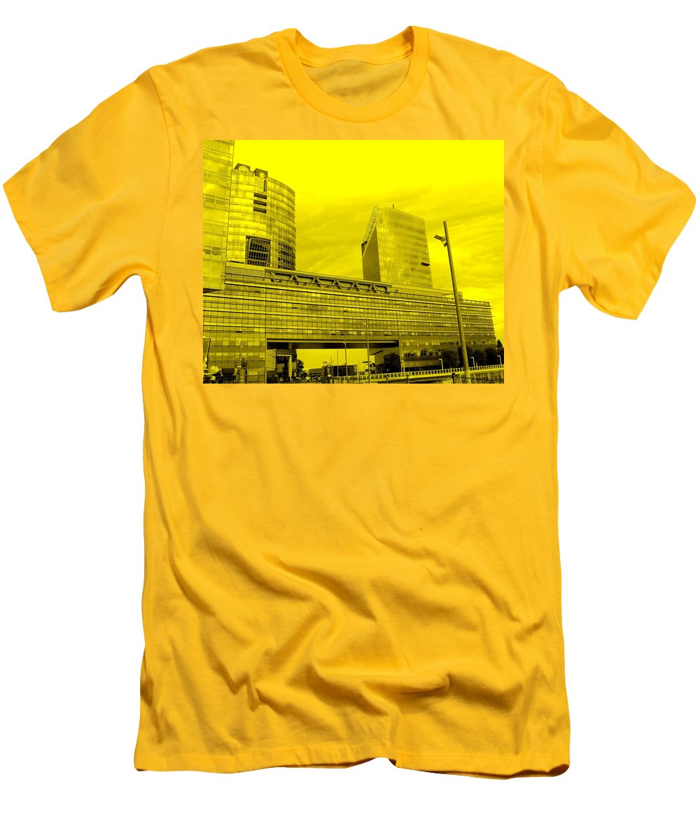 Vienna Men's T-Shirt (Athletic Fit) featuring the photograph Daring Architecture by Ian MacDonald