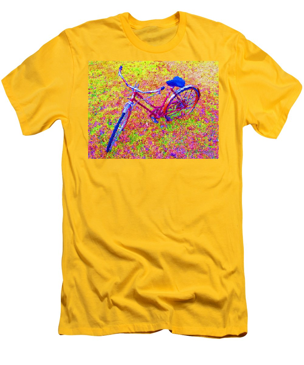 Bike Men's T-Shirt (Athletic Fit) featuring the photograph Joy, The Bike Ride by Albert Stewart