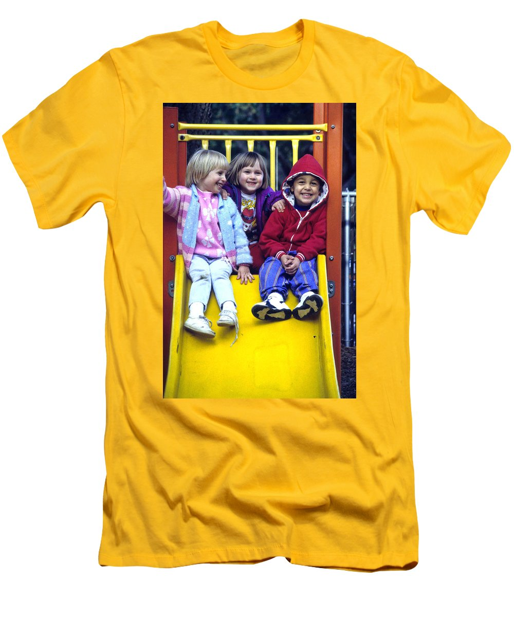 Girl Men's T-Shirt (Athletic Fit) featuring the photograph Love Thy Neighbor by Laurie Paci