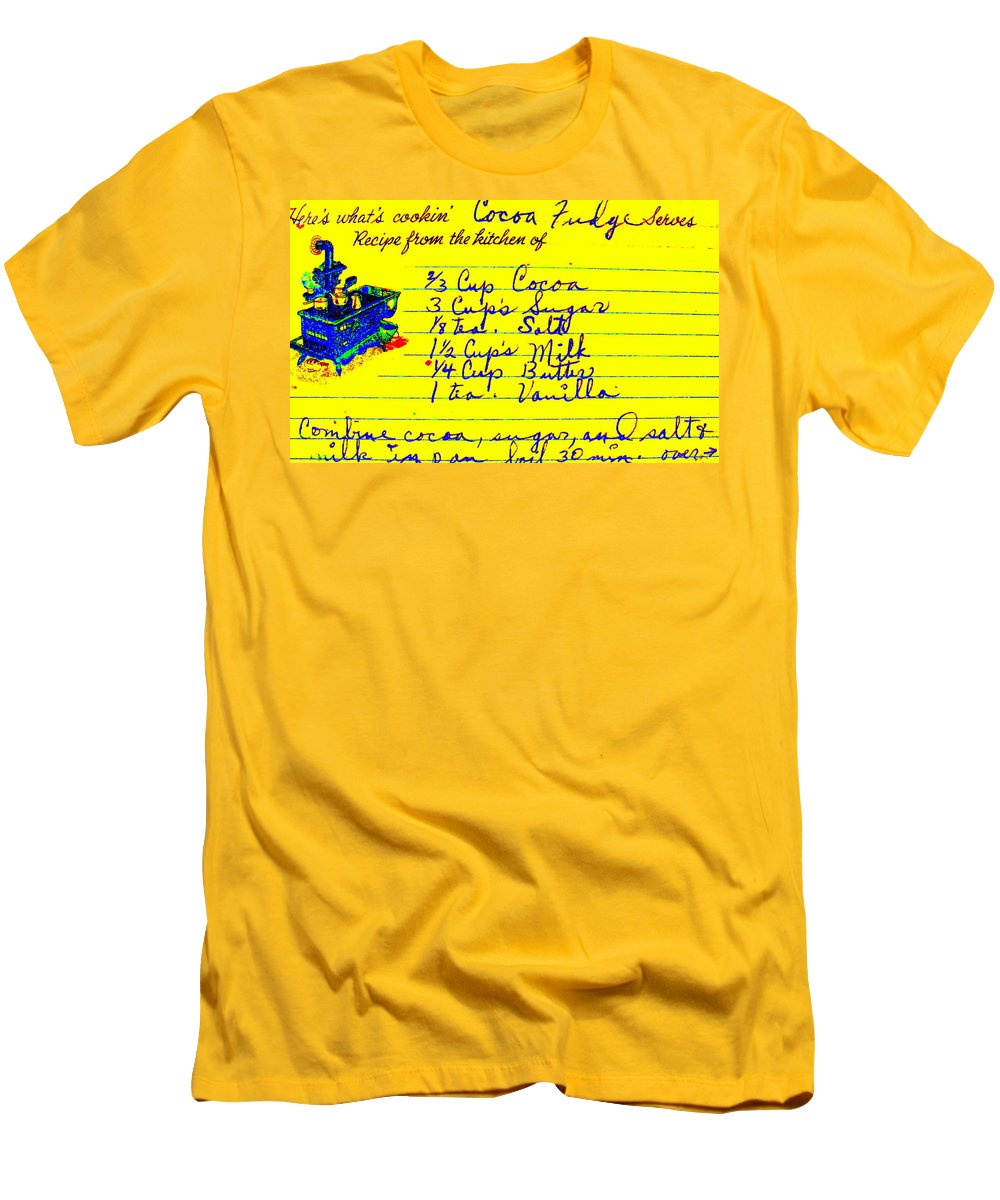 Recipe Men's T-Shirt (Athletic Fit) featuring the photograph Moms Old Recipe by Ed Smith