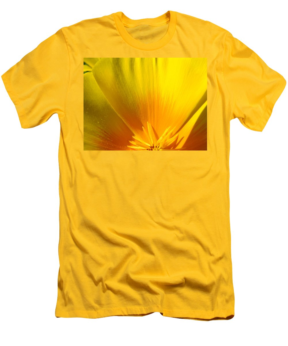 Office Men's T-Shirt (Athletic Fit) featuring the photograph Office Art Prints Poppies Orange Poppy Flowers 2 Giclee Prints Baslee Troutman by Baslee Troutman