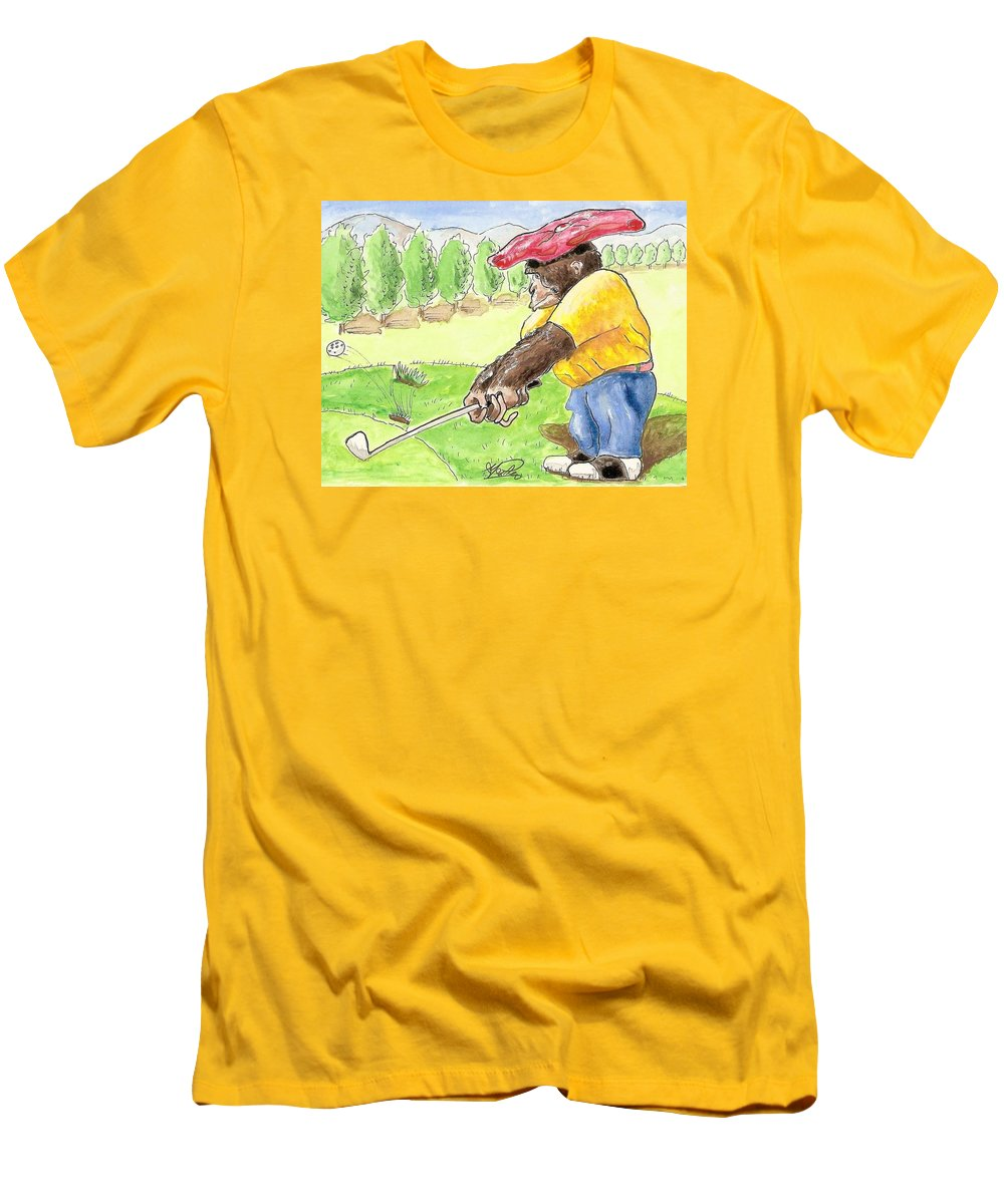 Golf Men's T-Shirt (Athletic Fit) featuring the painting Oops by George I Perez