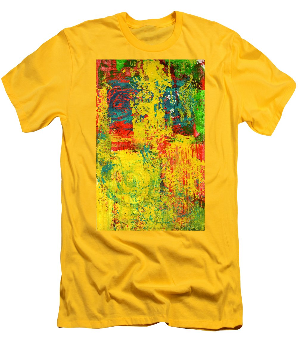 Abstract Men's T-Shirt (Athletic Fit) featuring the painting The Power Within by Wayne Potrafka