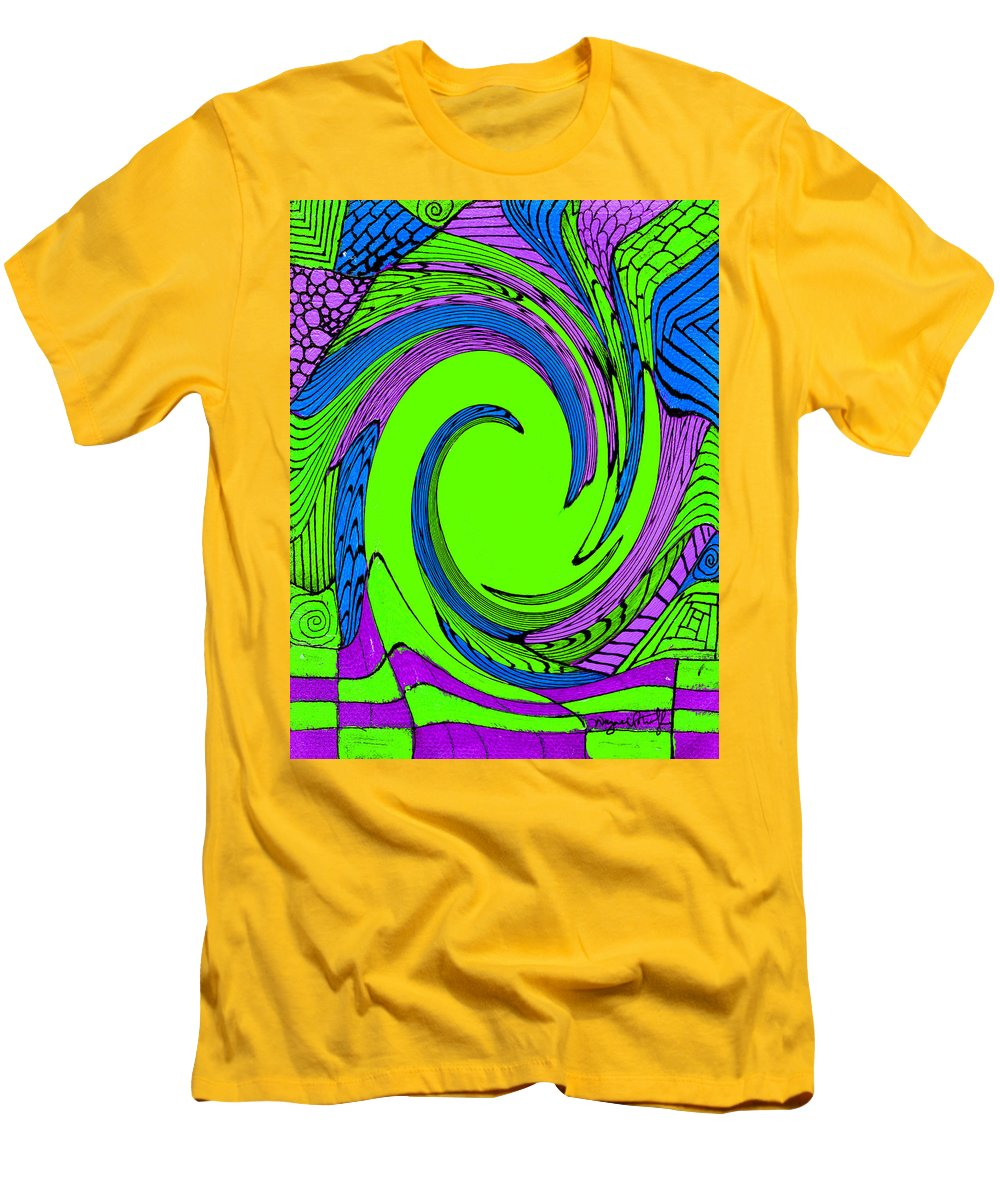 Vortex Men's T-Shirt (Athletic Fit) featuring the painting Vortex by Wayne Potrafka