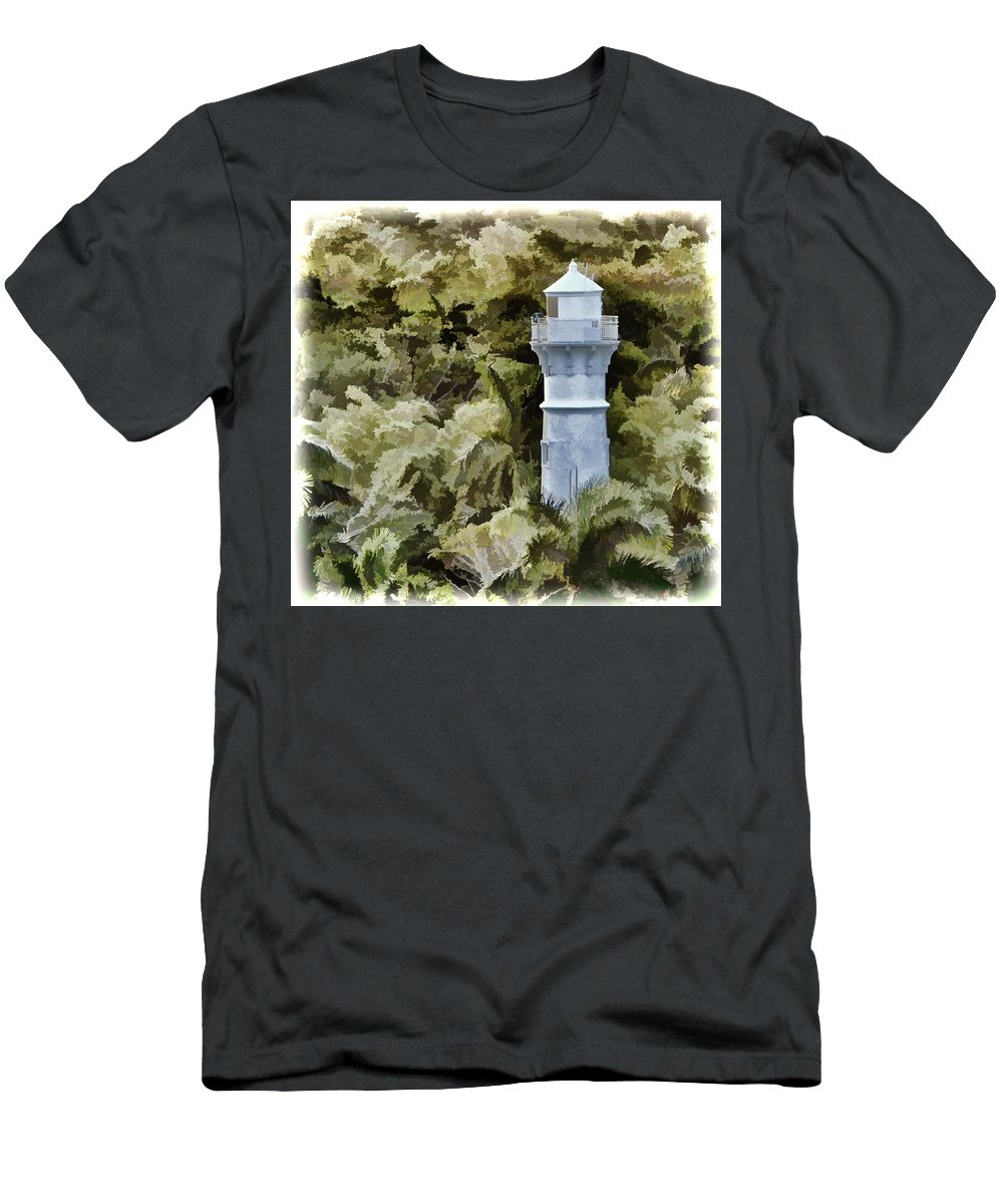 Panama Canal Men's T-Shirt (Athletic Fit) featuring the photograph Canal Beacon - Panama by Jon Berghoff