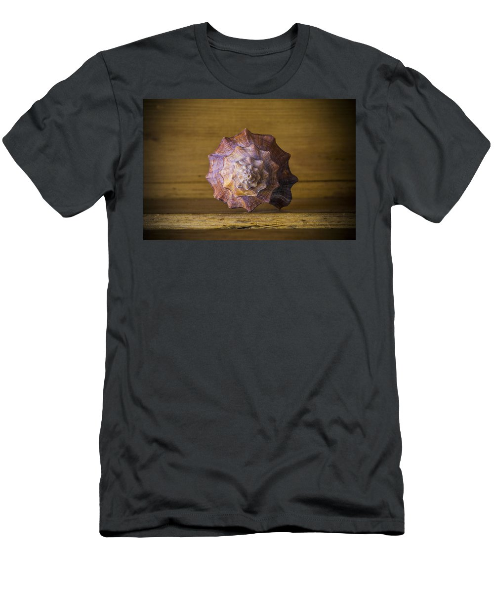 Seashell Men's T-Shirt (Athletic Fit) featuring the photograph Natural Curves by David Hare