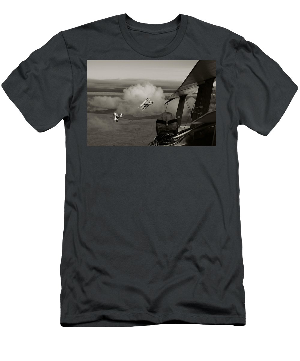 Aircraft Men's T-Shirt (Athletic Fit) featuring the digital art Sopwith - 'overwatch' by Pat Speirs
