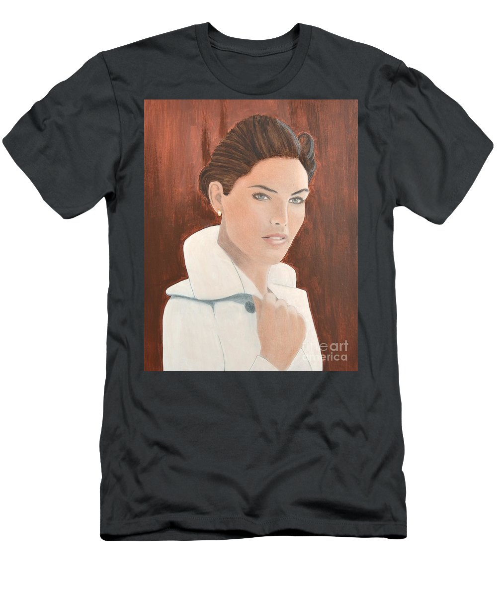 Troni Men's T-Shirt (Athletic Fit) featuring the painting 0004 Tanya by John Grieder