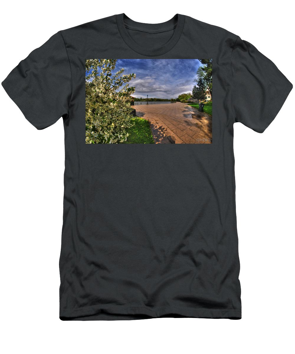 Hoyt Lake Men's T-Shirt (Athletic Fit) featuring the photograph 002 Hoyt Lake by Michael Frank Jr
